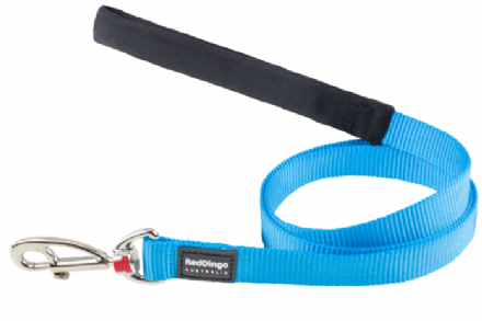 Red Dingo Plain Turquoise Dog Lead